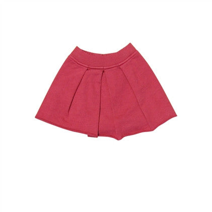 pleated fleece skirt
