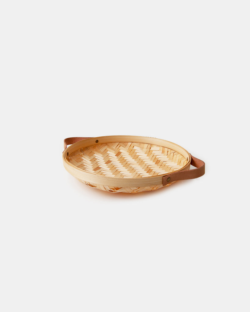 Bamboo Bread Basket - Round - Natural