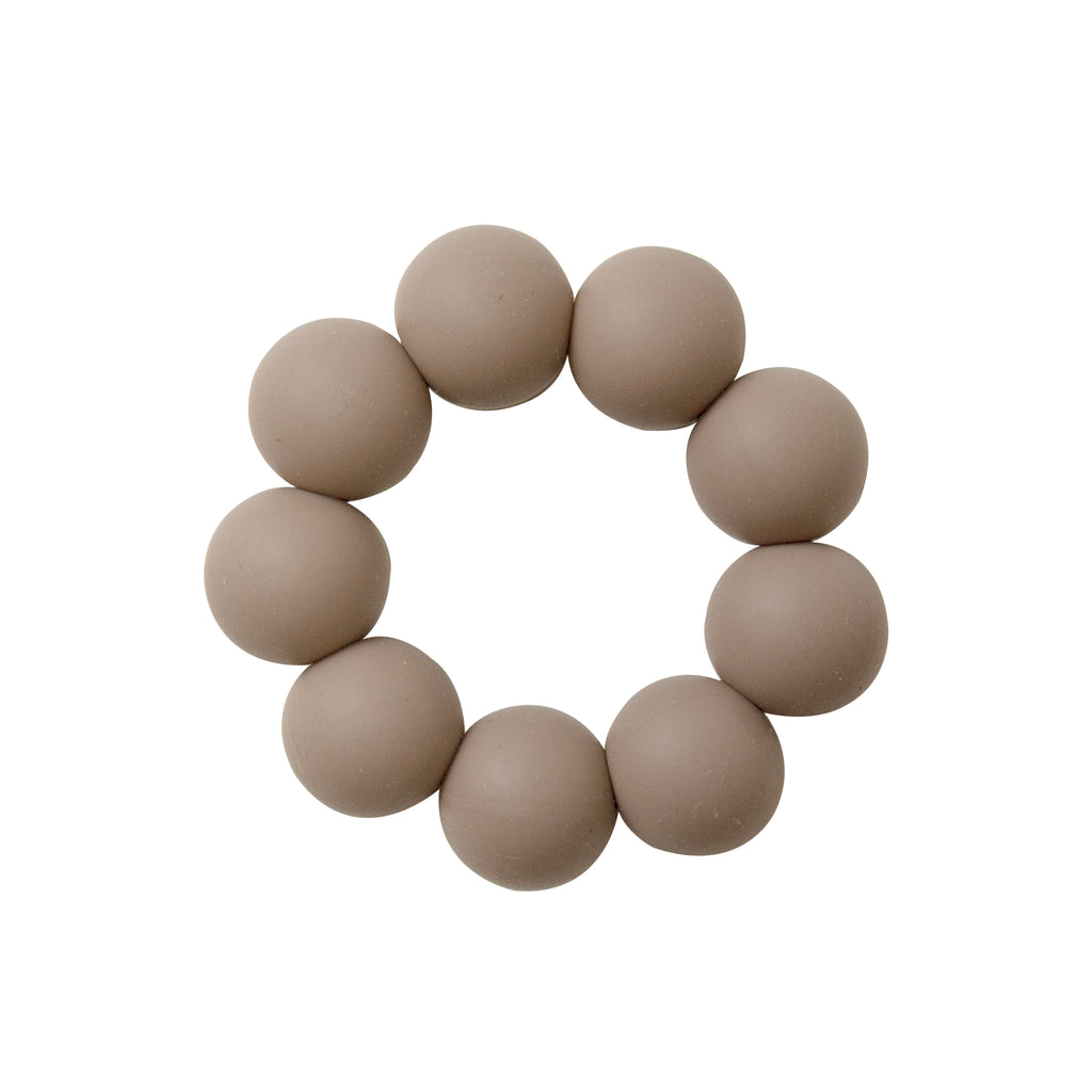 Freezable silicone teething toy- taupe <br>Dove and Dovelet