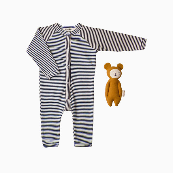 Gift Set - Snap Down Romper + Soft Bear Rattle