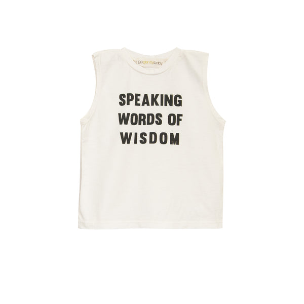Speaking Words Of Wisdom Muscle Tee