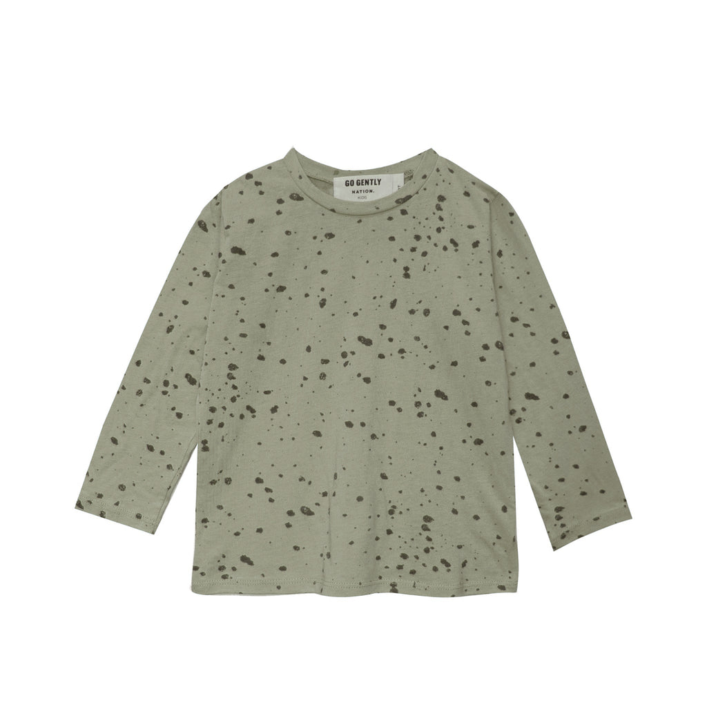 Long Sleeve Splatter tee
