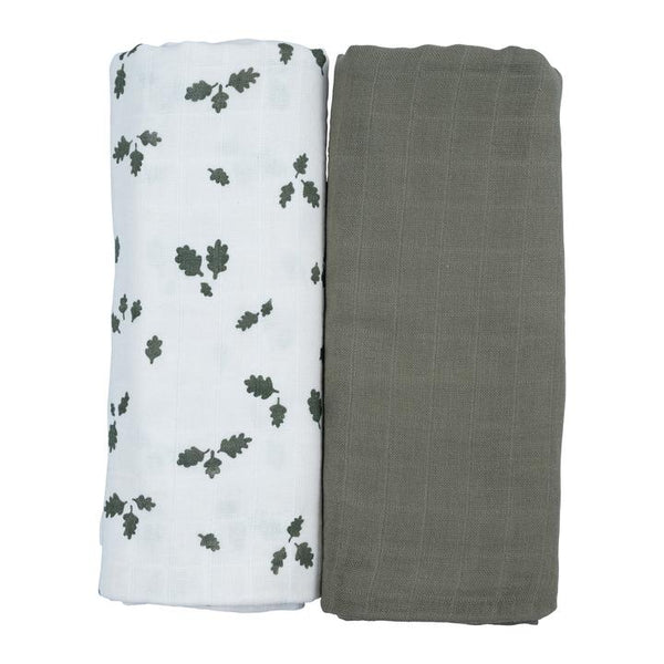 Swaddle - 2 Pack - Oak Leaf<br> Fabelab
