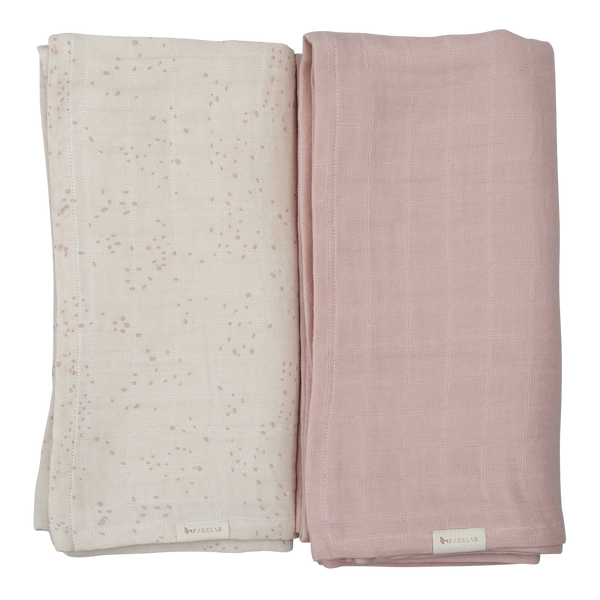 Organic Swaddles- Printed and solid set- Autmun Mist <br> Fabelab