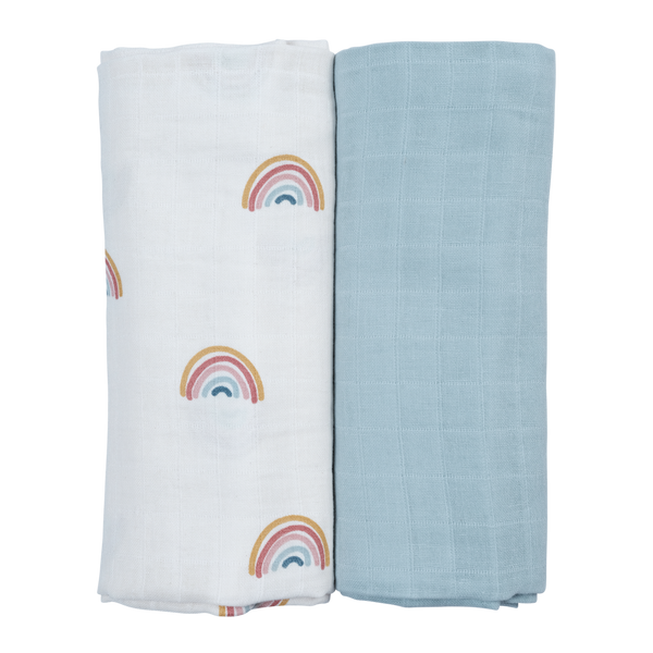Swaddle - 2 pack - Rainbow <br> Fabelab