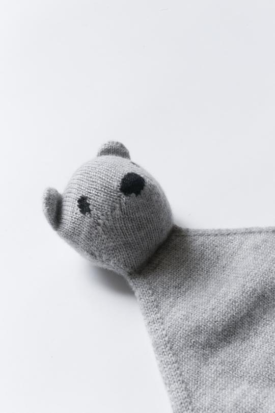Teddy Tokki - heather gray <br>hvid
