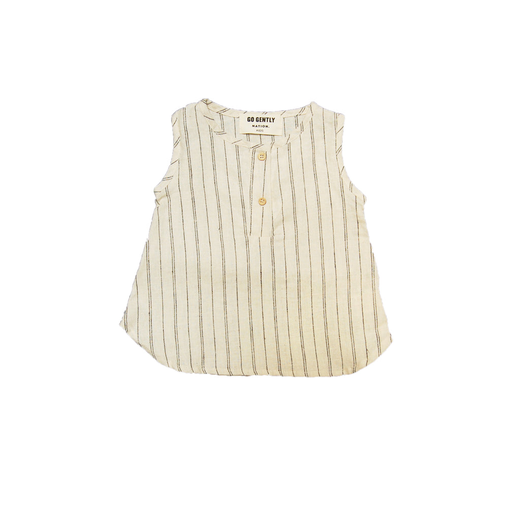 stripe placket tank