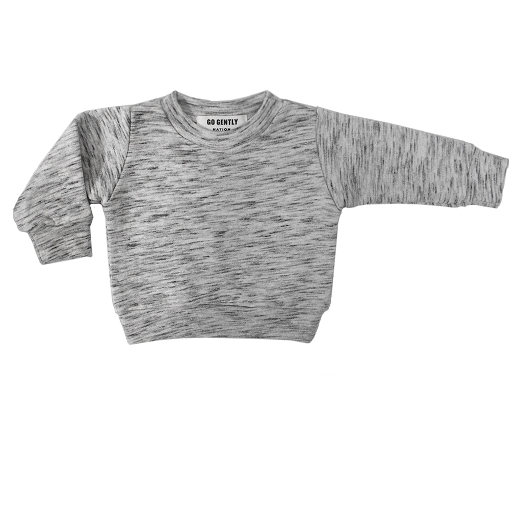 Textured French Terry Crewneck