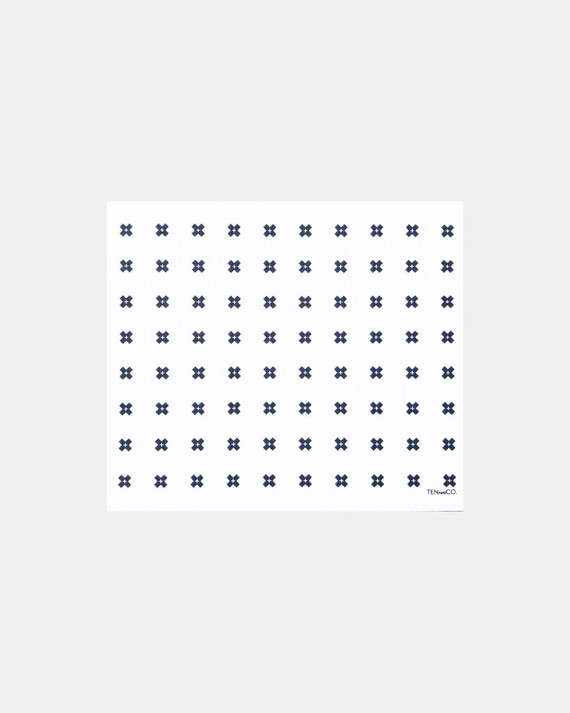 Tiny X + XL Sponge Cloth Mat (white)<br>Ten&Co.