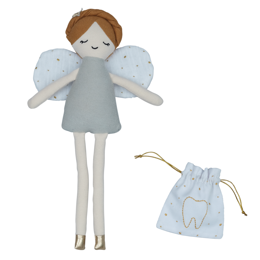 Tooth Fairy Doll with pouch<br> Fabelab