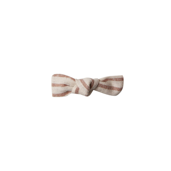 Top Knot Hair Bow - hazelnut stripe