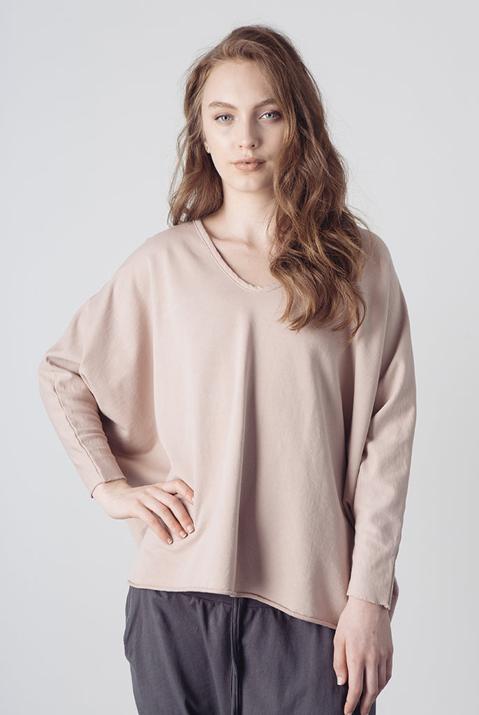 v-neck dolman sweatshirt