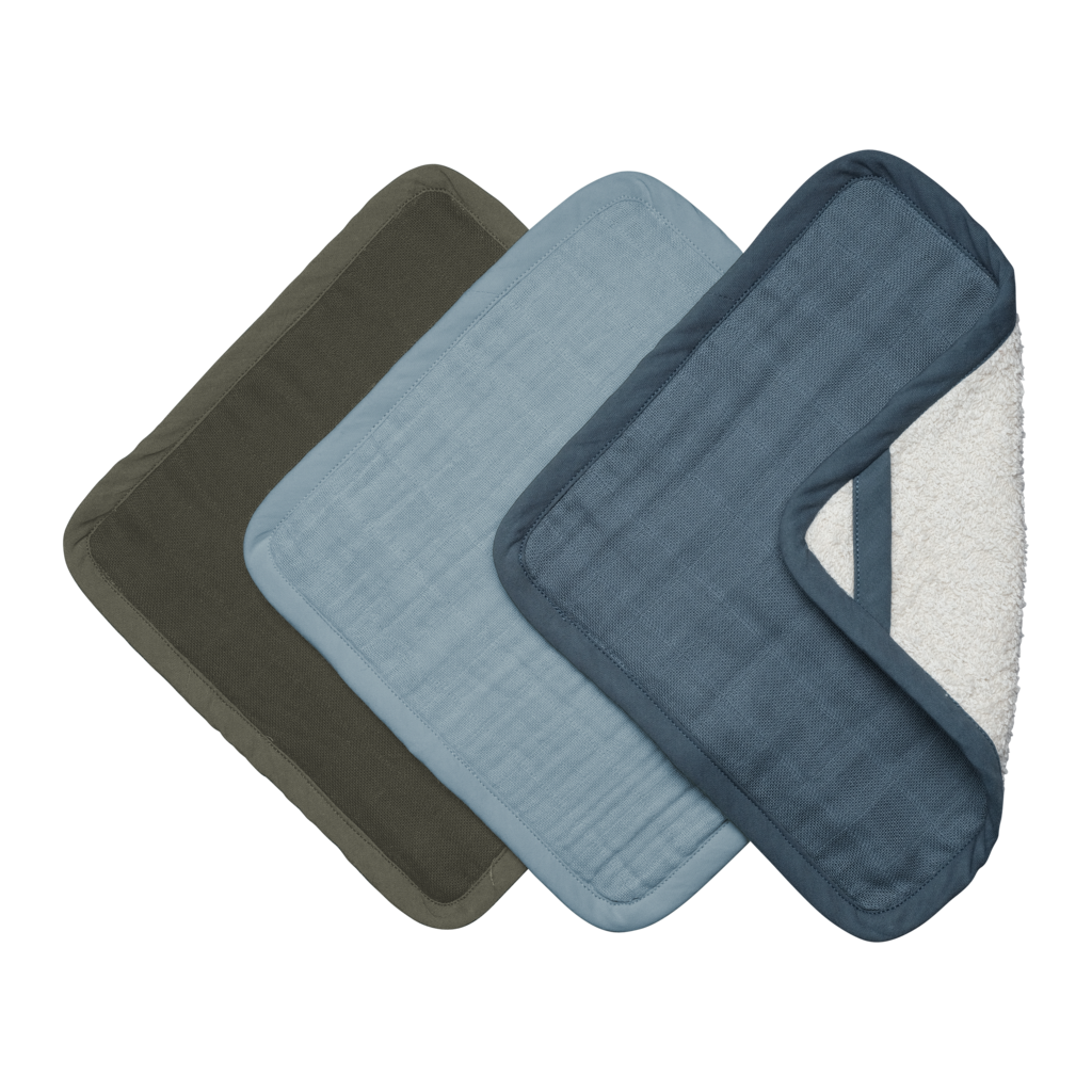 Washcloths - 3 Pack - Coastal<br> Fabelab
