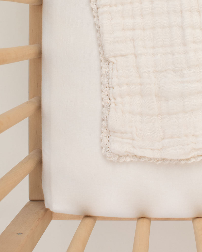 Lace baby blanket / mini size - ivory<br>Willaby