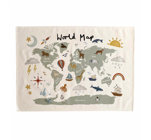 World Map Wall Hanging - Large