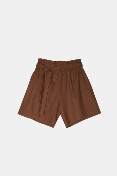 Gathered Woven Short