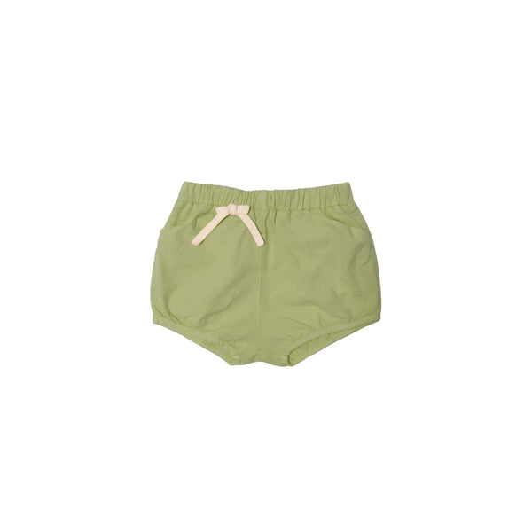 Woven short with bow