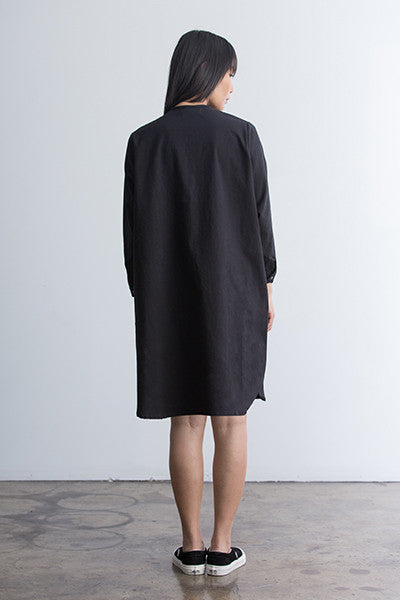 woven placket dress