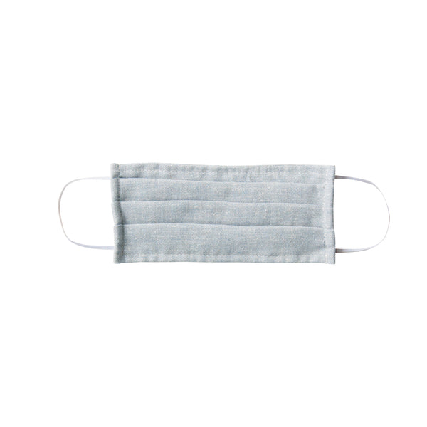 Adult Cloth Face Mask - double layer - soft blue hemp