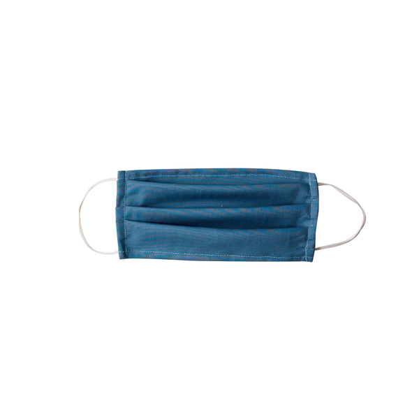 Adult Cloth Face Mask - single layer - old blue