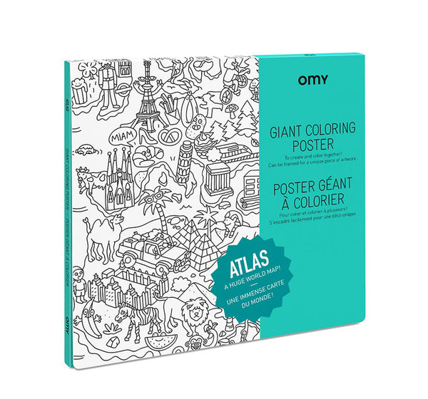 Giant Coloring Poster - Atlas <br> OMY