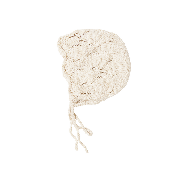 Heirloom Handmade Organic Cotton Bonnet