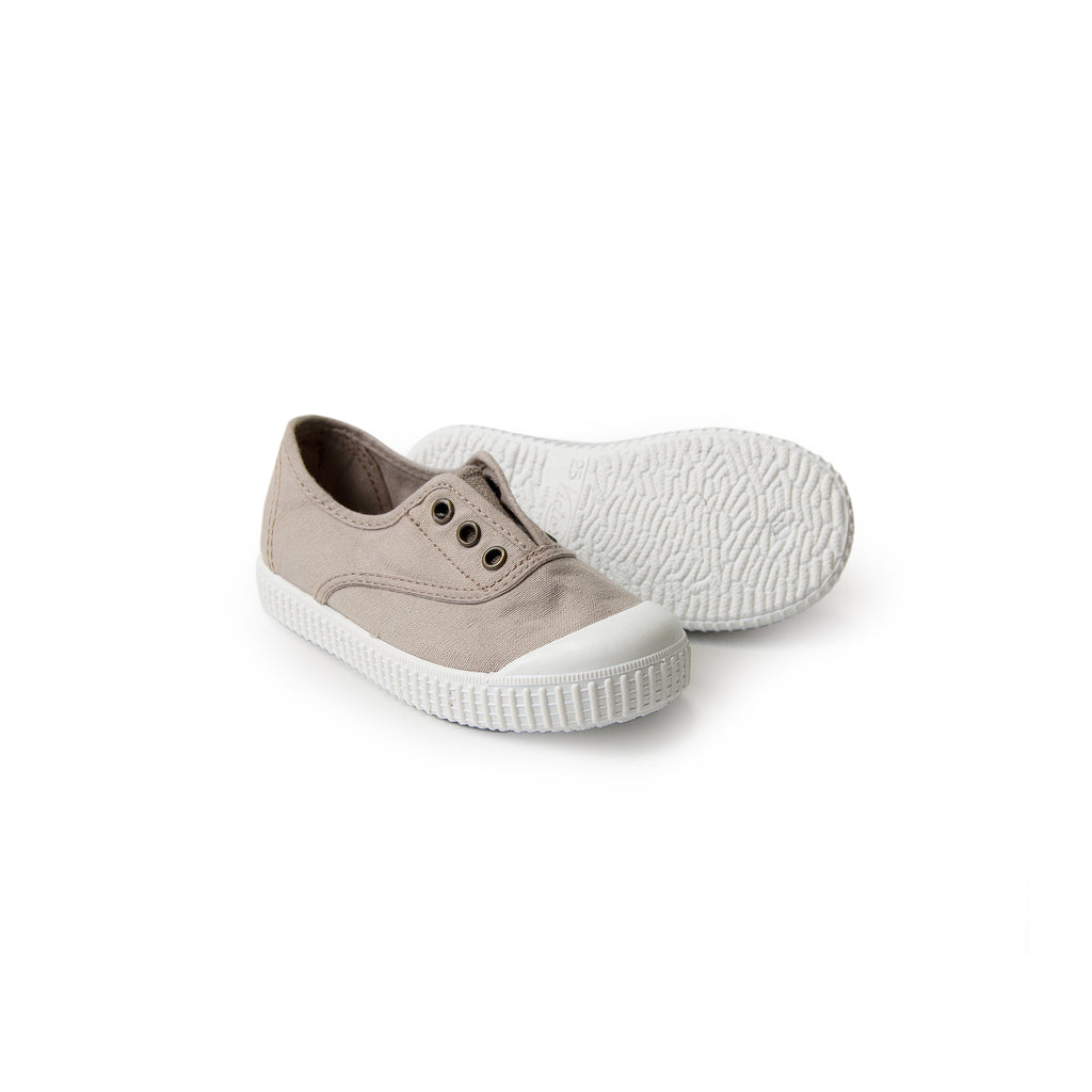 Organic Canvas Sneakers - beige <br> Victoria