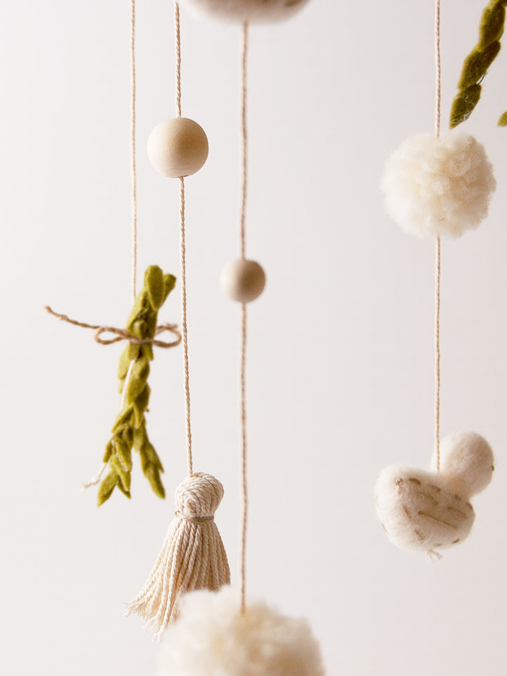 Wool Birds & Rosemary Mobile