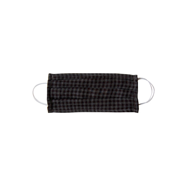 Adult Cloth Face Mask - single layer - black gingham