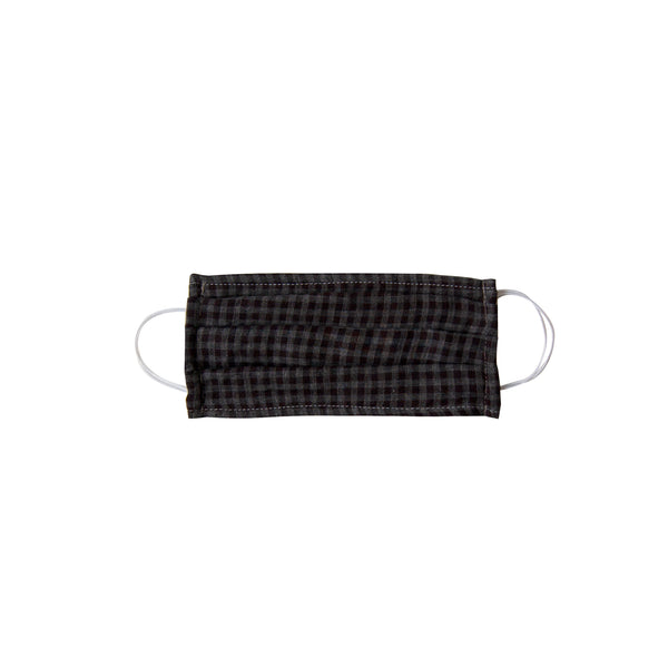 Kids Cloth Face Mask - single layer - black gingham