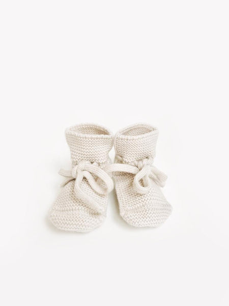 Knit Booties - ivory <br>hvid