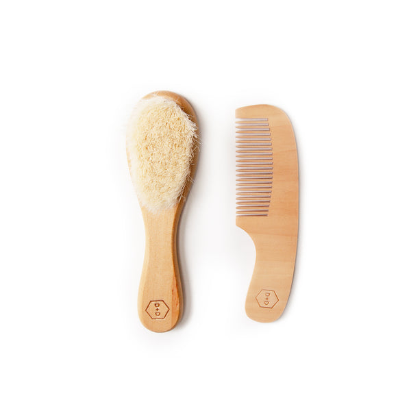 Wooden Baby Brush Set<br>by Dove and Dovelet