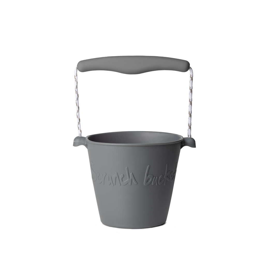 Silicone Beach Bucket - charcoal gray