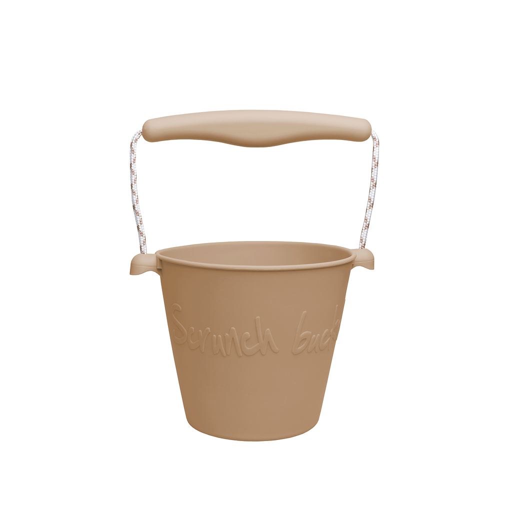 Silicone Beach Bucket - tan