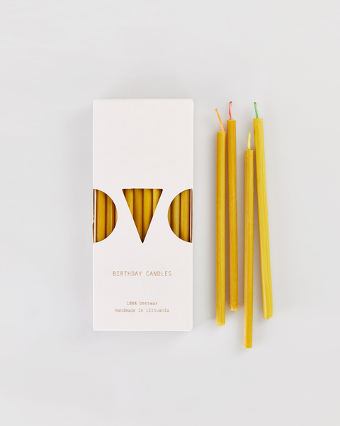 Beeswax Mini Birthday Candles<br>(set of 10) <br>Ovo Things