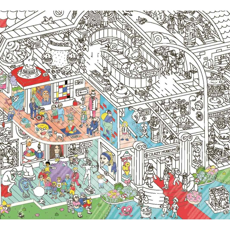 Giant Coloring Poster - Crazy Museum <br> OMY