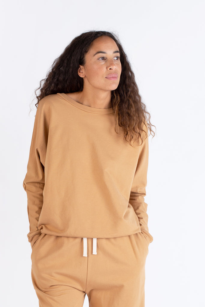 French Terry Dolman Crewneck