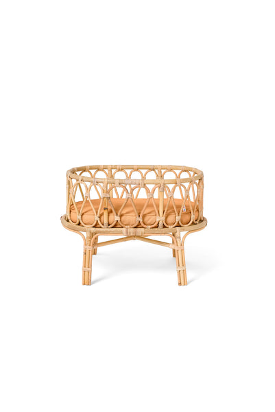 Rattan Doll Crib - Clay <br> Poppie