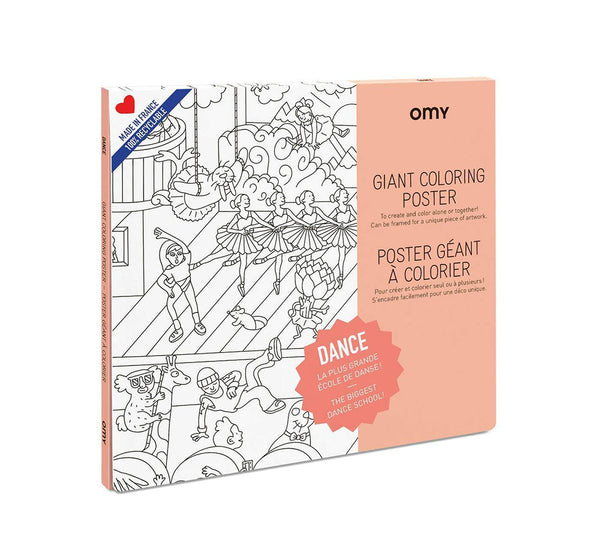 Giant Coloring Poster - Dance<br> OMY