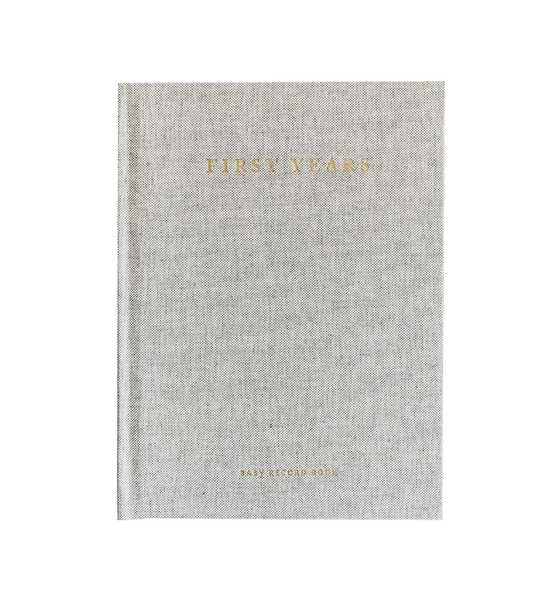 The Minimalist Baby Book - Grey Linen<br> Tokki Goods