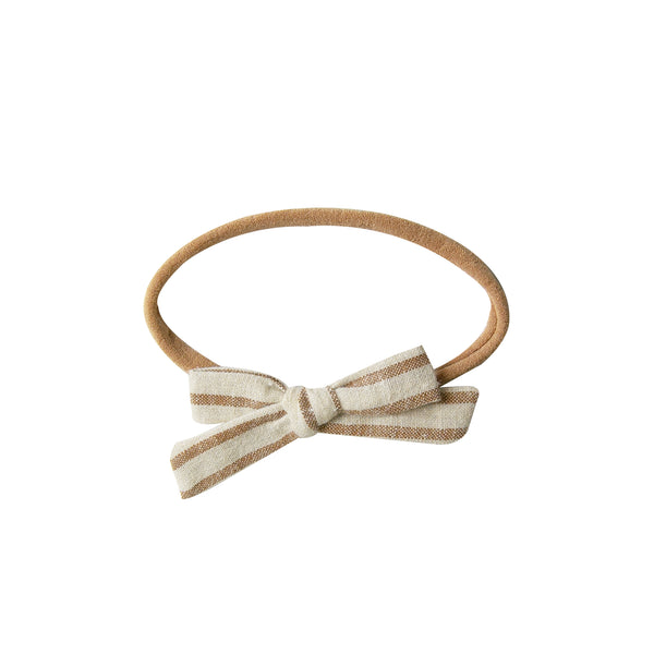 Mini Bow Headband - hazelnut stripe