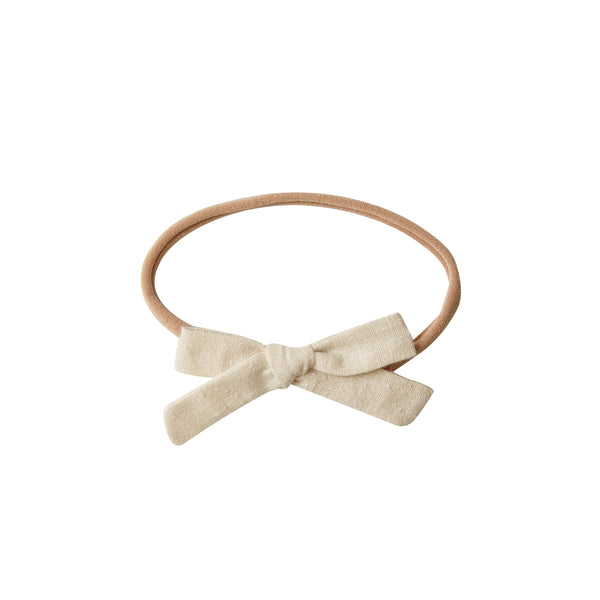 Mini Bow Headband - natural