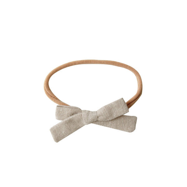 Mini Bow Headband - wheat
