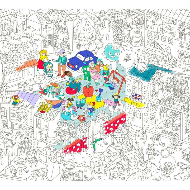 Giant Coloring Poster - Kids life <br> OMY