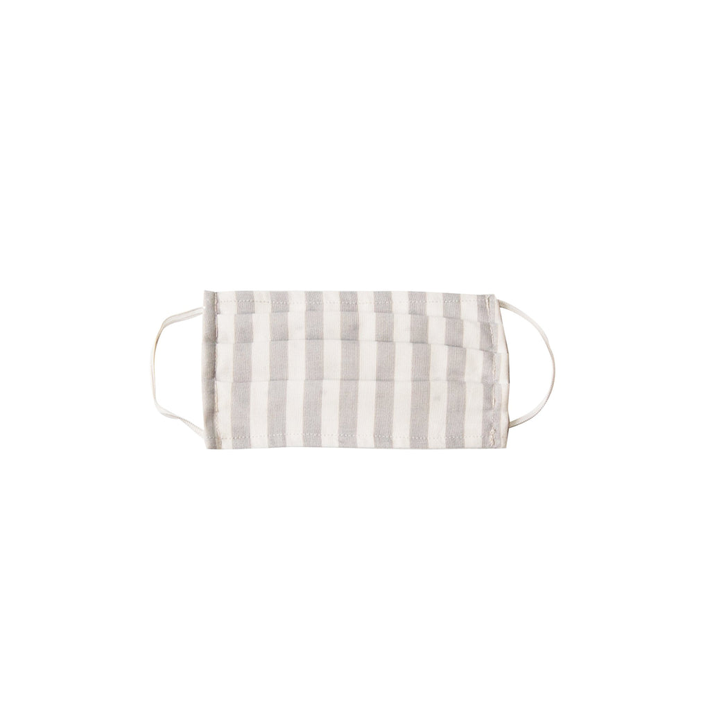 Kids Cloth Face Mask - single layer - Pumice Vertical Stripe