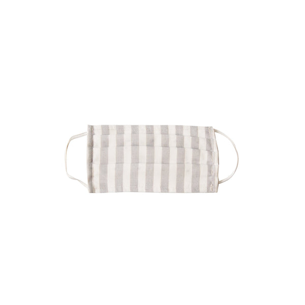 Kid Cloth Face Mask - single layer - Pumice Vertical Stripe