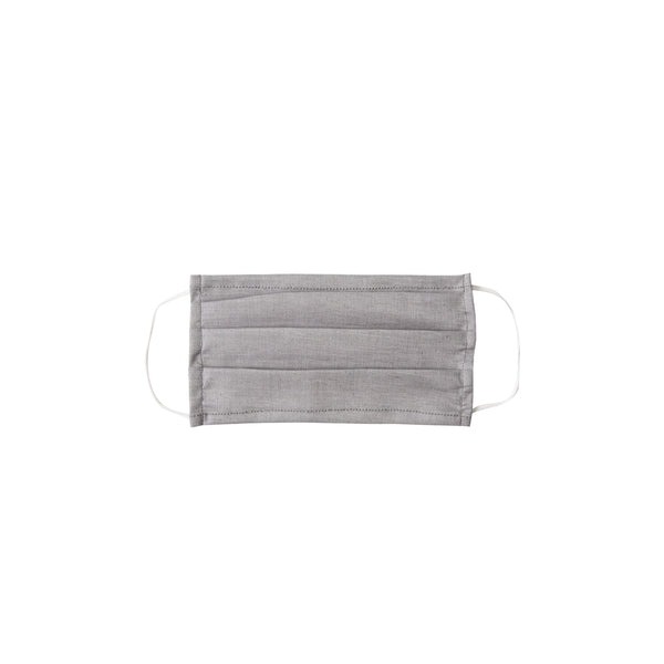Kids Cloth Face Mask - single layer - gray solid