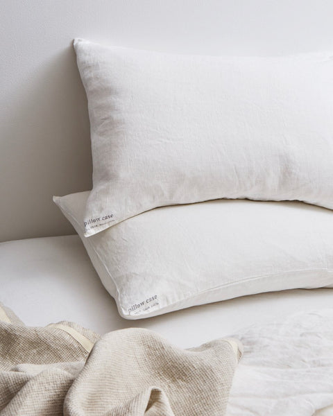 Linen pillowcase set - white <br>Fog linen