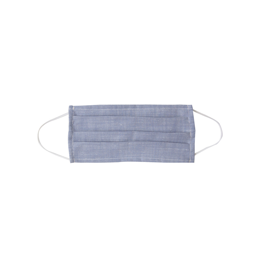 Adult Cloth Face Mask - single layer -blue chambray