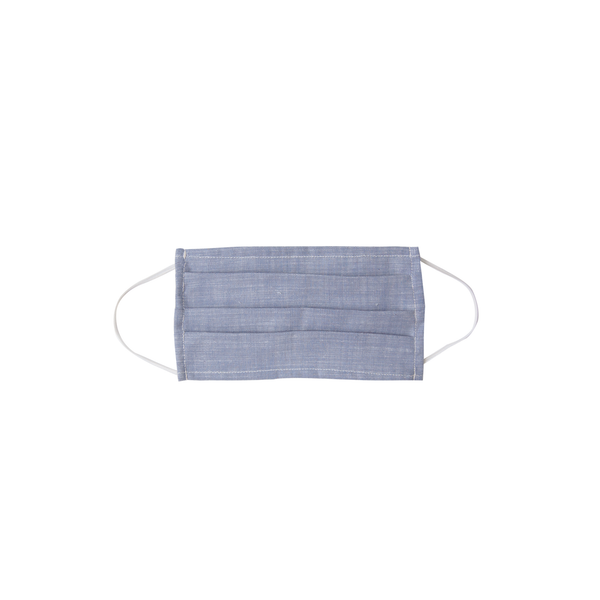 Kids Cloth Face Mask - single layer -blue chambray